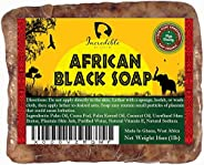 African Black Soap - Raw Organic Soap for Acne, Dry Skin, Rashes, Scar Removal, Face & Body Wash - Beauty