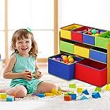 Levede Kids Toy Box 9 Bins Storage Rack Organiser Cabinet Wooden Bookcase 3 Tier