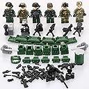 LEGO レゴ 互換 ミリタリー 兵士 ネイビーシールズ ソルジャー ミニフィグ 6体 ウェポン 武器 パーツ セット
