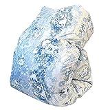 東京西川 羽毛布団 シングル グース 日本製 ウクライナ産 シルバーグースダウン93% 1.2kg 「Cocoroシリーズ Mizuki(みずき)」ブルー 立体キルト 側生地:綿100% 掛け布団 150×210cm