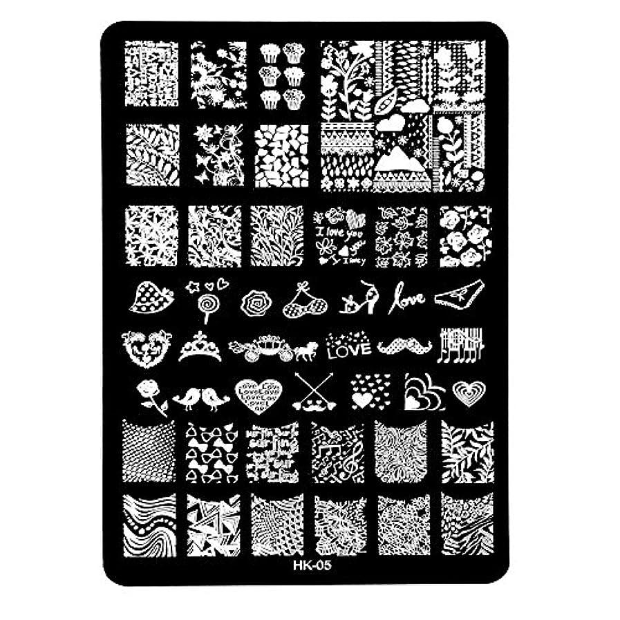 同意繕う億[ルテンズ] スタンピングプレートセット 花柄 ネイルプレート ネイルアートツール ネイルプレート ネイルスタンパー ネイルスタンプ スタンプネイル ネイルデザイン用品