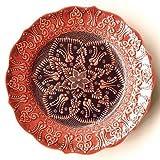 トルコ陶器 キュタフヤ陶器 - 30cm絵皿(P30-017)
