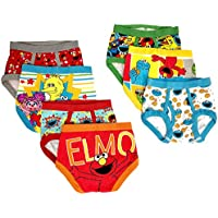 Sesame Street Boys Character Toddler 7 Pk Underwear Briefs - Multi