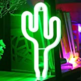 XIYUNTE Cactus Lights Neon Signs - LED Night Lights Neon Lamps Battery and USB Powered Cactus Signs Wall Decor Bedside and Ta