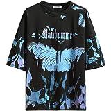 GURUNVANI The Men's Graphic Tees Butterflies T-Shirt Magic fire