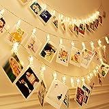 20 LEDs Photo Clip String Lights, Tobeape 3m Peg Lights for Photo Peg, Battery Powered Fairy Lights for Decoration Hanging Ph