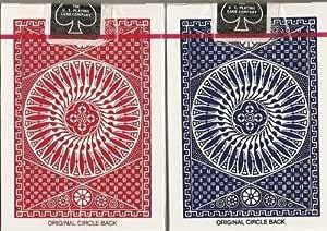 TALLY-HO(タリホー) Circle Back(サークルバック) トランプ 赤/青 ポーカーサイズ 2デックシュリンクパック