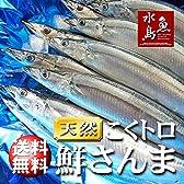 魚水島 秋刀魚 こくトロ生サンマ 刺身用 特大4kg 23~26尾
