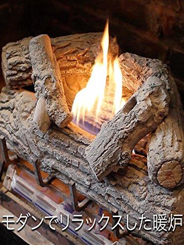 モダンでリラックスした暖炉