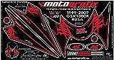MOTOGRAFIX(モトグラフィックス) ボディーパッド SUZUKI GSX1300R隼 99-07 FRONT ブラック/レッド MT-NS005KR