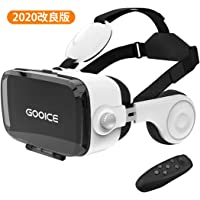 Gooice VRゴーグル 3D動画 ゲーム 映画 映像 効果 4.7~6.5インチiPhone android などのスマホ対応 Bluetoothコントローラ付 日本語説明書付属