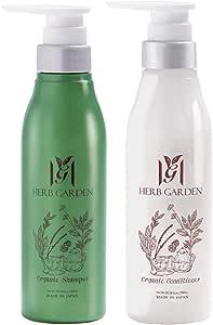 さくらの森 ハーブガーデン オーガニックシャンプー&コンディショナー 天然由来成分100% アミノ酸系シャンプー シトラスハーブの香り ノンシリコン 無添加