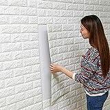 ROZZERMAN 壁紙 シール レンガ調 白 70×77cm ウォールステッカー はがせる タイル 選べる セット