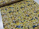 minions ミニオンズいっぱい イエロー オックス生地   |かわいい|綿|コットン|布|入園入学|通園通学|キッズ|