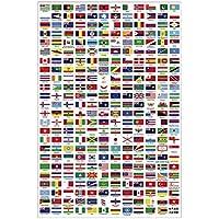 手描きの面白い世界国旗の木製パズル&挑戦性あるジグソーパズルのおもちゃ、500pcs