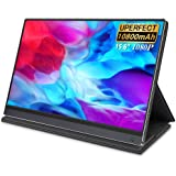 Battery Portable Monitor, UPERFECT Upgraded 15.6 Inch IPS HDR 1920X1080 FHD 10-Point Touch USB C Monitor Built-in 10800mAh Ba