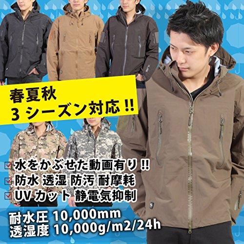 Umineko ウミネコ Umineko カーキ XXL レインジャケット メンズ 耐水圧10000mm 透湿度10000g 防寒