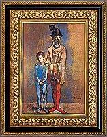 複製絵画 二人の道化師 ピカソ作 36×25cm
