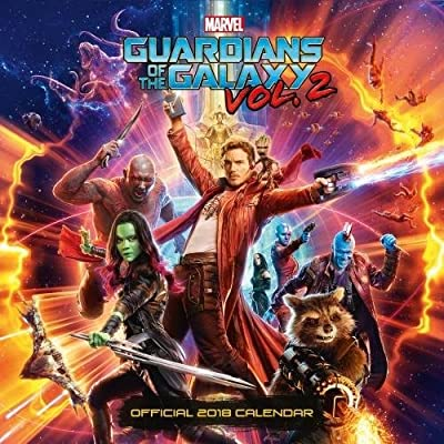 Guardians Of The Galaxy Official 2018 Calendar - Square Wall Format