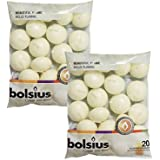 Bolsius Unscented Floating Candles - Set of 40 Ivory Floating Candles 1.3/4 inch - Elegant Burning Candles - Candles Nice Smo