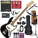 FENDER エレキベース 初心者 入門 メキシコ製 クラシックでエレガントなスタイルのジャズベース マルチエフェクターも入ってる!最強の20点セット Player Jazz Bass/BLK/PF(ブラック/パーフェロー指板)