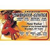 Spidey Spider-man Fun Fake ID License