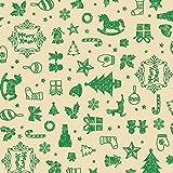 タカ印 ラッピングペーパー 49-3044 クリスマスアコール緑 半才判 50枚