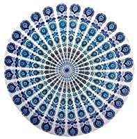 Indian Mandala Round Roundie Beach Throw Tapestry Hippy Boho Gypsy Cotton Tablecloth Beach Towel , Round Yoga Mat Tapestry Indian Mandala Round Beach Throw Boho Gypsy Cotton Tablecloth Beach Towel Round Tapestry Yoga Mat Tapestry by Online Big Bazar