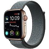 Haotop バンド 対応 Compatible for Apple Watch,新しいナイロン スポーツループストラップ 通用 バンド 適応 for iWatch Series 6/5/4/3/2/1/SE (38mm/40mm, ストームグレー)
