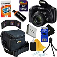 Canon PowerShot sx540HS 20.3MPデジタルカメラwith 50x光学ズーム、内蔵Wi - Fi &フルHD 1080pビデオ+アクセサリキットW/HeroFiber Ultra Gentleクリーニングクロス