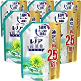 【ケース販売】レノア 超消臭1WEEK 柔軟剤 フレッシュグリーン 詰め替え 約2.5倍(980mL)×6袋