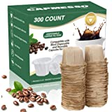 CAPMESSO Disposable Coffee Paper Filters Replacement Kerig Filter Compatible with Reusable Single Serve Pods Keurig Coffee Ma