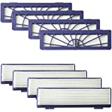 Amyehouse 8-Pack High Performance Filters Accessories for All Neato Botvac Robotics 70e 75 80 85 & D Series D75 D80 D85 & Con