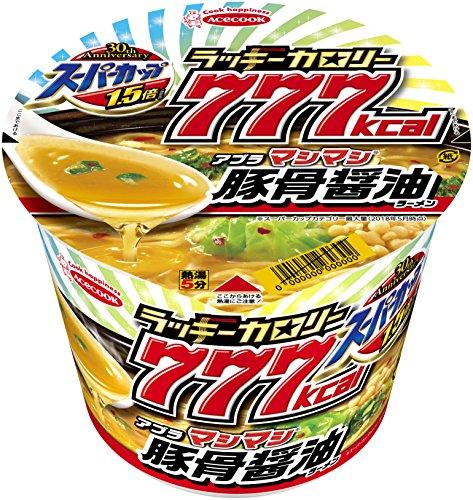 エースコック スーパーカップ1.5倍ラッキーカロリー777豚骨醤油ラーメン 150g×12個