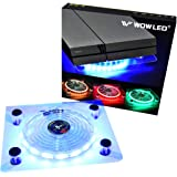 WOWLED Cooling Fan Mini 3 keys Control Gaming USB RGB LED Cooler Thermal Fan Pad for PS4 Playstation 4 XBOX One X Consoles La