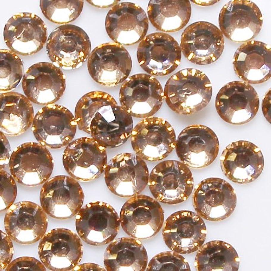 根絶するペナルティ唇高品質 アクリルストーン ラインストーン ラウンドフラット 約1000粒入り 4mm ライトコロラドトパーズ