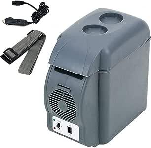 UP STORE 冷温庫 車載可能 冷蔵庫 ポータブル保冷庫 7L DC12V 電源コード190cm ショルダーベルト ドリンクホルダー付き 室内車載両用 7リットル