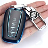 for Toyota Key Fob Cover Premium Soft TPU 360 Degree Protection Key Case Compatible with 2018 2019 2020 Toyota Camry RAV4 Ava