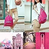 【ノーブランド 品】正方形 旅行 折り畳み式 超軽量 バックパック 防水 スポーツバッグ アクセサリー 贈り物 全2色 - ピンク