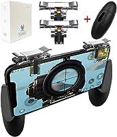 PUBG Mobile 荒野行動 コントローラー Anacend ゲームパッド 押しボタン&グリップのセット
