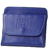 本革 3ポケット付き レディース メンズ ミニ 小銭入れ(ちょっと訳アリ)ミニサイズでこんなにも入る小さい 財布 (ブルー)