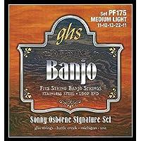 ghs (ガス) PF175 Sonny Osborne Signature Stainless Steel Banjo Strings バンジョー弦 【12セット】