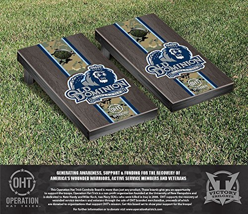 Operation Hat Trick Old Dominion Monarchs Cornhole Game Set Onyx Stained Stripe Version [並行輸入品]