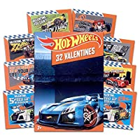 ホットWheelsバレンタインカード–ボックスof 32カード