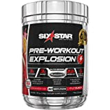Six Star Explosion Pre Workout, Powerful Pre Workout Powder with Extreme Energy, Focus and Intensity, Fruit Punch, 30 Serving
