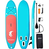 """FAYEAN Inflatable Stand Up Paddle Board Round Board 10'30""""6"""" Thick Includes Pump, Paddle, Backpack, Coil Leash,Fin and Univer"""
