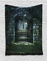 """Ambesonne家装飾コレクション、寮寝室リビングルーム壁吊りタペストリー、マルチカラー 60"""" W By 80"""" L tap_15441_Gothic_06.21_60x80"""