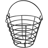 KOFULL Golf Ball Metal Range Basket Golfball Container with Handle - Holds Contain 50 Balls
