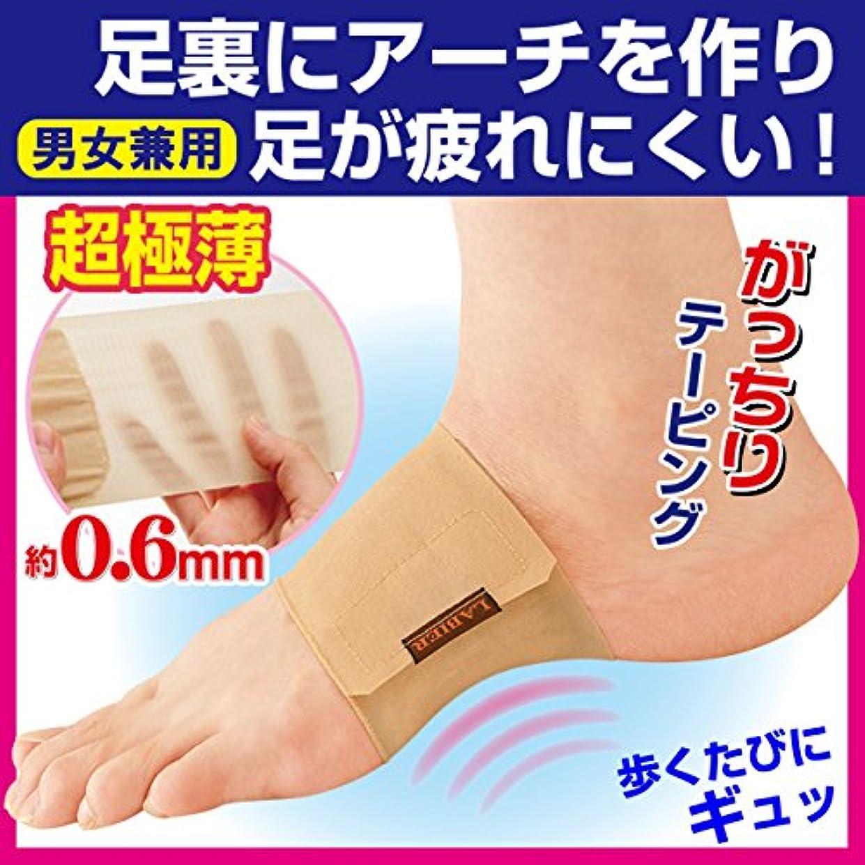 軽セラフ解明する超薄型足裏テーピングサポーター【2枚組】 (L)