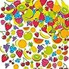 フルーツ・スポンジシール(120枚入り)心のこもった素敵な手作りカードや子供達の工作に